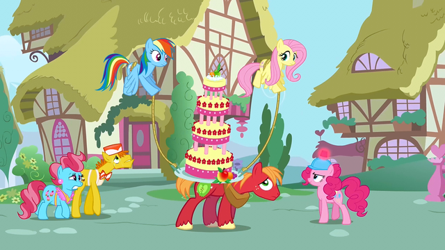 File:Rainbow and Fluttershy helping S2E24.png