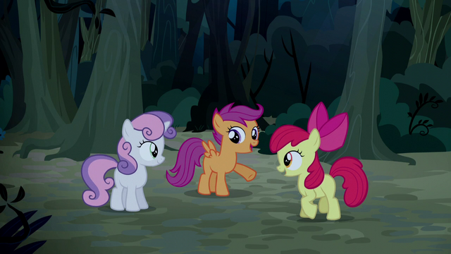 """File:Scootaloo """"he's been looking at his cutie mark wrong"""" S5E6.png"""