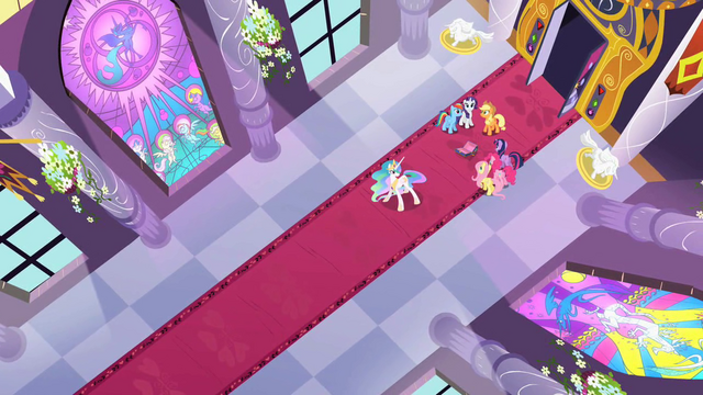 File:Celestia and main 6 hears Discord's voice S2E01.png