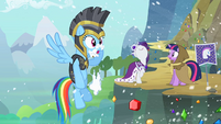 Rainbow Dash with snow on her face S2E11
