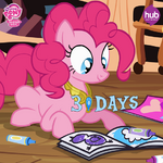 Season 4 promo Pinkie with coloring book