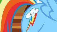 Rainbow Dash shows her cutie mark S01E23