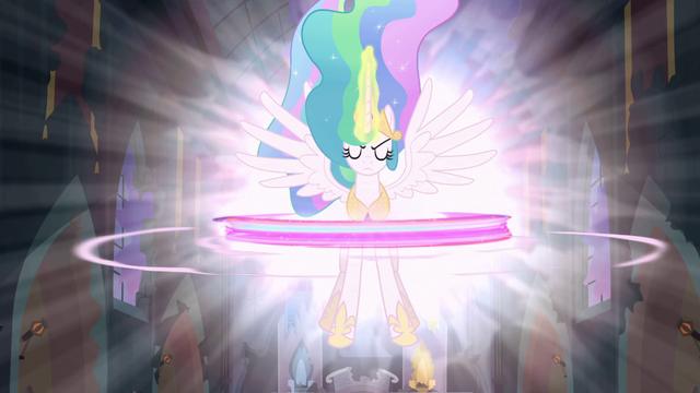 File:Princess Celestia Activating the Elements S04E02.png