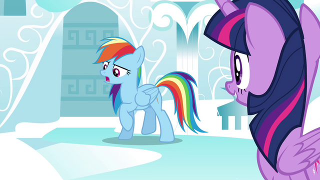 "File:Rainbow ""Except after Luna was banished to the moon"" S4E21.png"