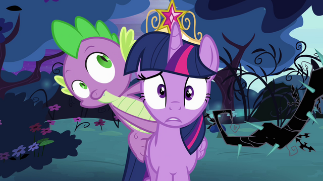 File:Twilight and Spike are lost S4E02.png