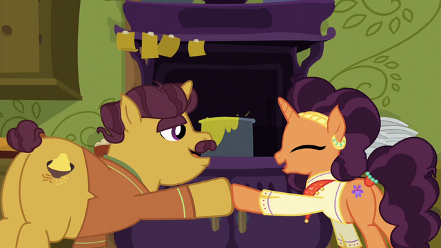 File:Coriander and Saffron hoof-bump S6E12.png
