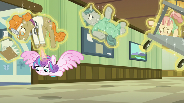 File:Flurry Heart flies past Doc Top and janitors S7E3.png