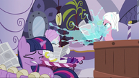 Pinkie Pie reaching out newspaper S2E23