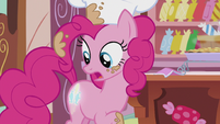 Pinkie notices her cutie mark glowing S5E8