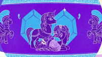 Vase illustration of a Crystal Empire birth S6E1