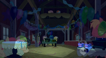 Hiding at Applejack's surprise party S2E14