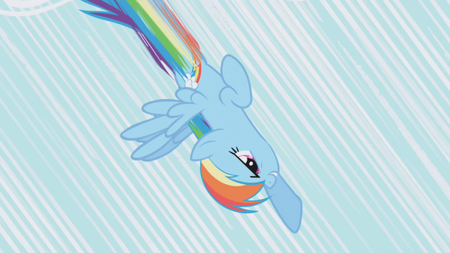 File:Rainbow Dash diving toward the ground S1E06.png