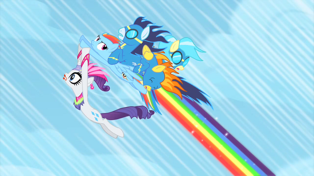 File:Rainbow Dash with Rarity and the wonderbolts S1E16.png