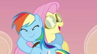 Rainbow and Fluttershy hug S2E22