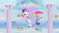 Rarity dances during Rainbow Dash's second phase S1E16