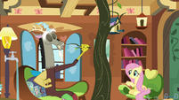 Discord using a tree branch as a toothpick S7E12