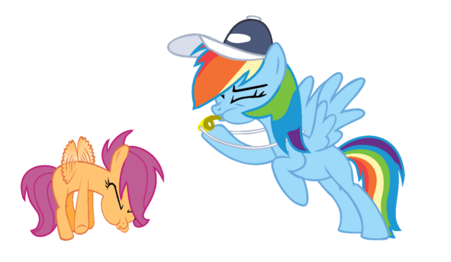 File:FANMADE Rainbow Dash coaching Scootaloo.png