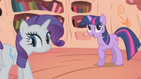 "Twilight and Rarity ""magical lightning rod"" S1E8"