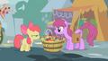 Apple Bloom and Berryshine look at each other S1E12.png