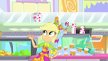 Applejack skillfully flips cups in the air SS9.png