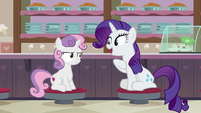 "Rarity ""your all-time favorite dessert!"" S7E6"