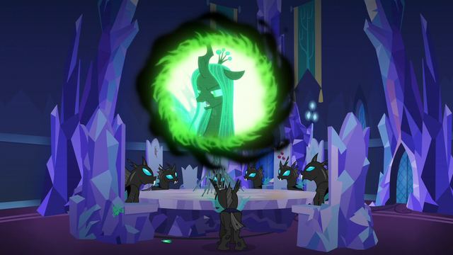 "File:Queen Chrysalis ""now report!"" S6E25.png"