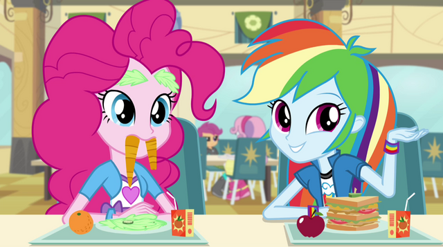 "File:Rainbow Dash ""just let her tell us"" EG2.png"