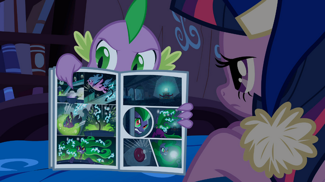 File:Spike reading comic book S4E06.png