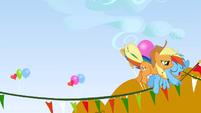 Applejack catches Rainbow Dash S1E13