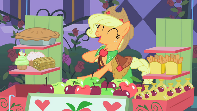 File:Applejack happy to make first sale S1E26.png