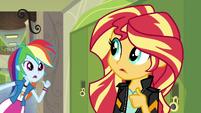 Rainbow asks Sunset if she's coming EG3