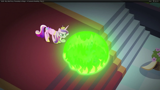 File:Chrysalis makes Twilight sink into the caverns S2E25.png
