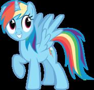 FANMADE pony request 160 alicorn Rainbow Dash by ah darnit