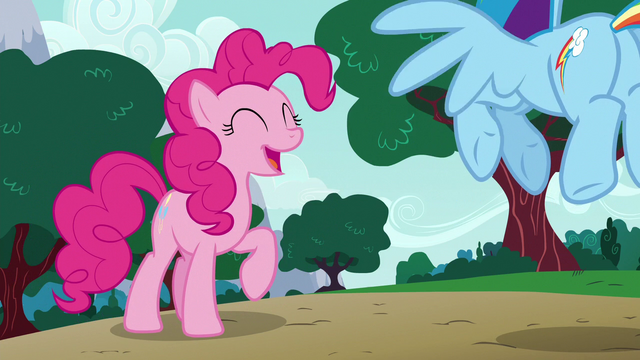 "File:Pinkie Pie ""it's been pretty funny!"" S6E15.png"