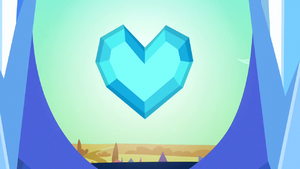 The Crystal Heart at the top of the Crystal Empires palace spire S3E02