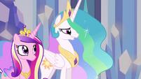 Celestia and Cadance in throne room EG