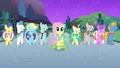 Fluttershy and choir at the end of Fluttershy's solo S1E26.png