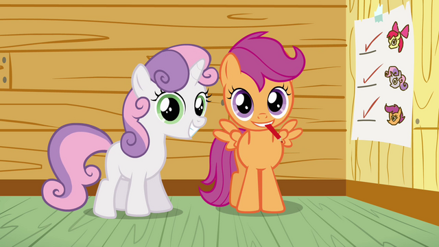 File:Scootaloo and Sweetie Belle smile S3E04.png