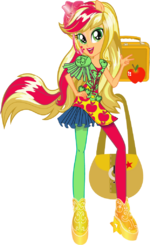 Applejack Rainbow Rocks character bio art