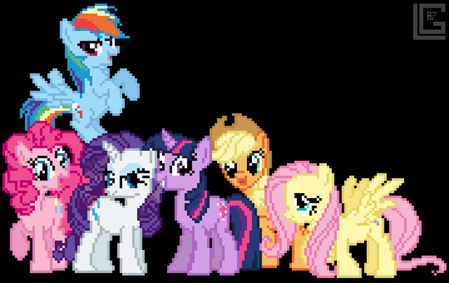 File:FANMADE The Digitalized Mane 6.png