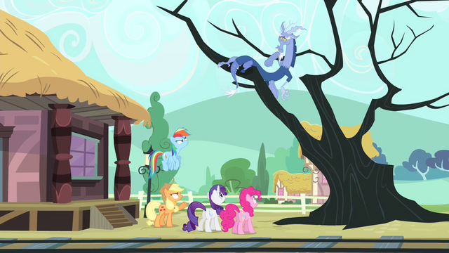 File:Main cast sees Discord on the tree S4E11.png