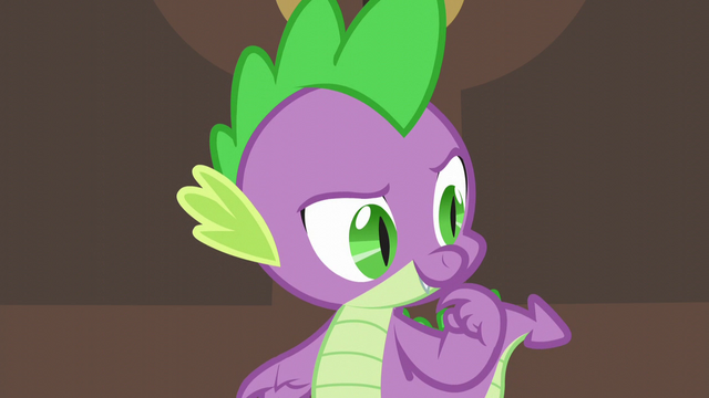 "File:Spike ""wonder if anypony else needs the princess's help"" S5E10.png"