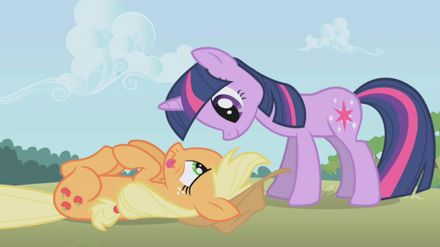 File:Twilight is happy to see Applejack in one piece S1E04.png