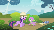 Twilight tells off Spike for sneaking up on her S1E15.png