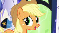"Applejack ""everypony take one of their own decorations out"" S5E3"