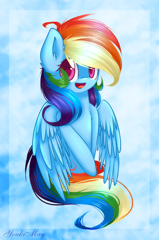 File:FANMADE Rainbow Dash Fan-Art by YoukiMay.png