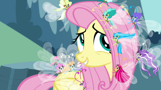 File:Fluttershy with the Breezies S4E16.png