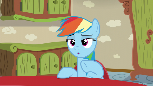 File:Rainbow Dash 'Remember when he was convinced...' S6E11.png