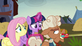Twilight asks Ma Hooffield how the feud started S5E23.png