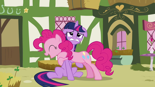 File:Twilight struggling under Pinkie S3E3.png